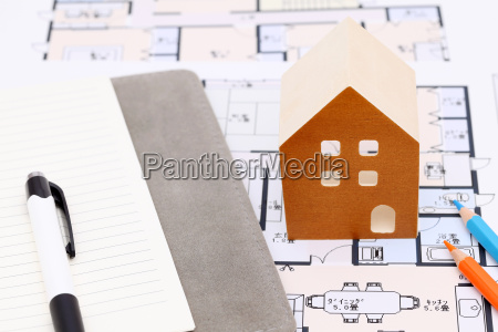 miniature model of house on