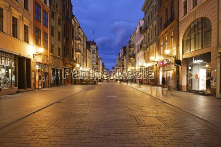 historyczny miasto grod town wieczor na