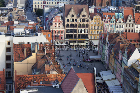 poland wroclaw old town market square
