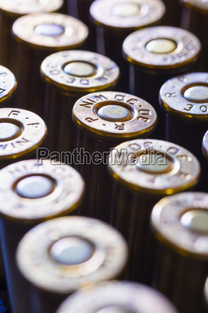 rifle ammunition bullets close up