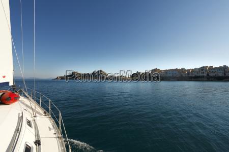 greece ionic islands corfu view to