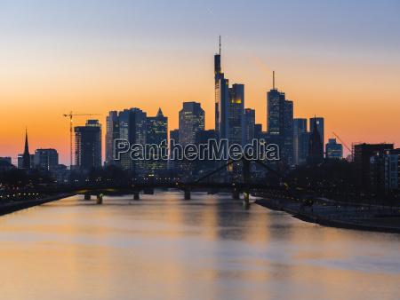 germany frankfurt view to skyline with