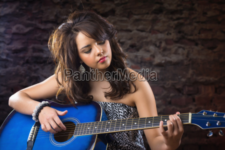 usa texas teenage girl playing guitar