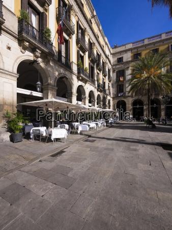 spain catalonia barcelona placa reial restaurant
