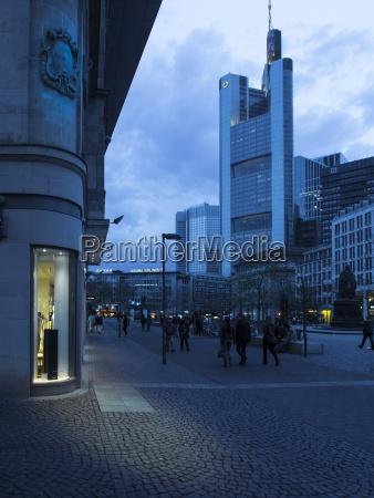 germany hesse frankfurt shopping street and