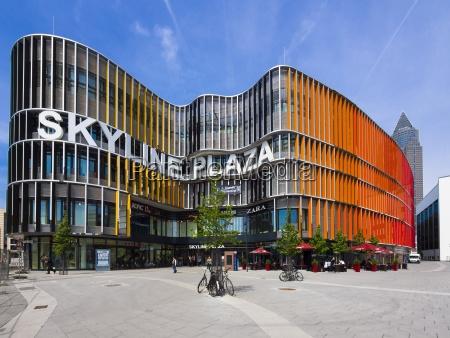 germany hesse frankfurt shopping mall skyline
