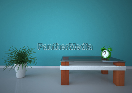 3d illustration of potted plant with