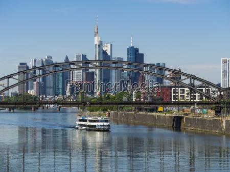 germany hesse frankfurt deutschherrn bridge excursion