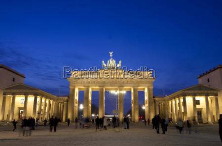 germany berlin view of brandenburger gate