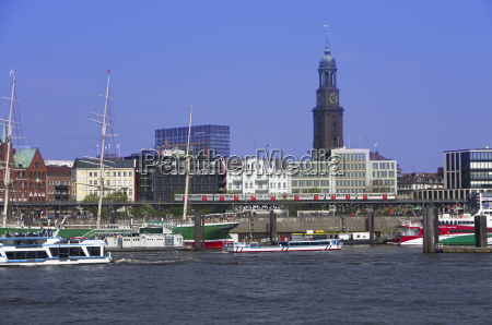 gernany hamburg view of harbour and