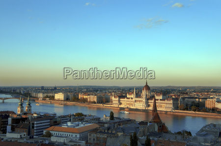 hungary budapest view of skyline with