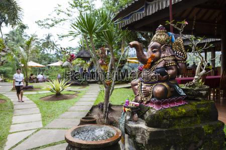 indonesia statue of ganesha in balinese