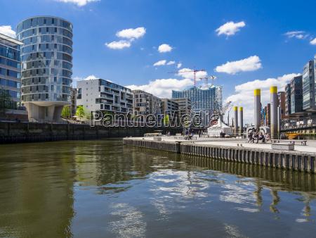 germany hamburg hafencity magellan terrassen sandtorhafen
