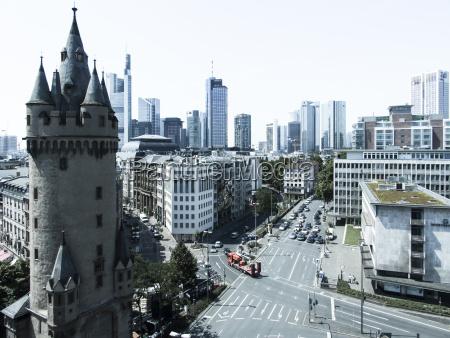 germany hesse frankfurt eschenheim tower financial