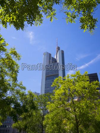 germany hesse frankfurt rossmarkt and commerzbank