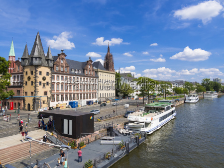germany hesse frankfurt excursion ships on