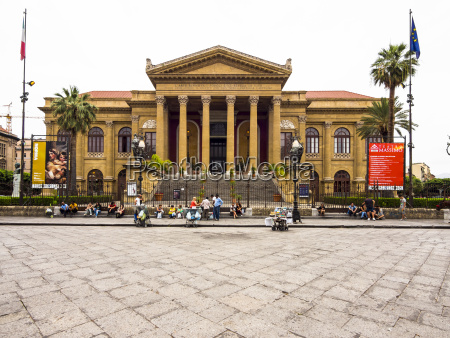 italy sicily palermo old town piazza