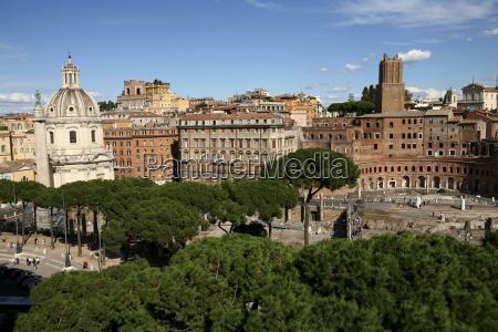 italy rome view to trajans market