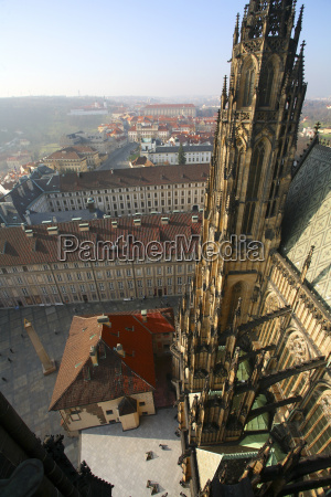 czechia prague seen from st vitus