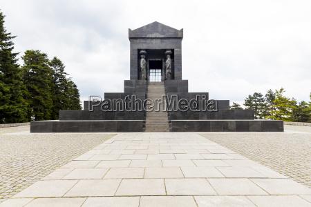serbia beli potok view to monument