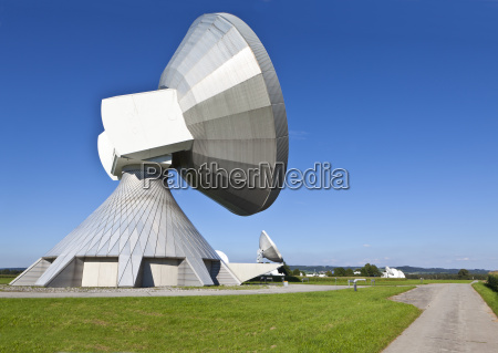 germany bavaria view of satellite dishes