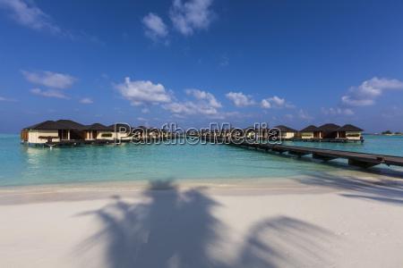 maldives water bungalows of paradise island