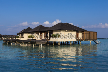 asia maldives view of water bungalows
