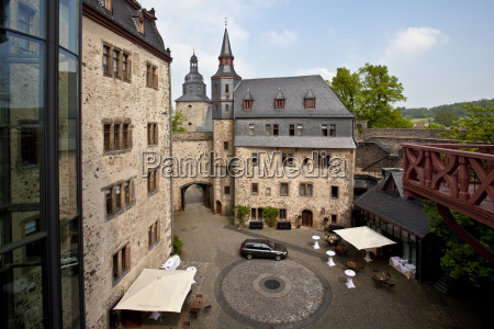 germany hesse view of castle and