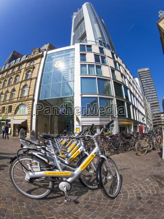 germany hesse frankfurt rental bikes at