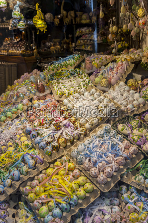 assortment of easter eggs in a