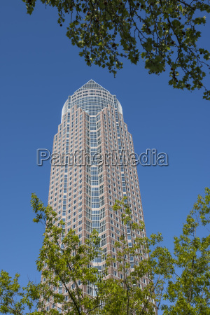 germany hesse frankfurt trade fair tower