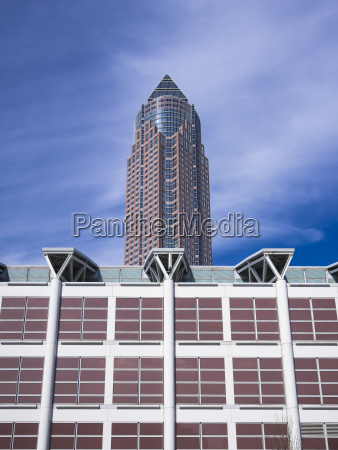 germany frankfurt view to exhibition tower