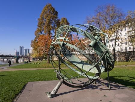germany hesse frankfurt equatorial sundial at