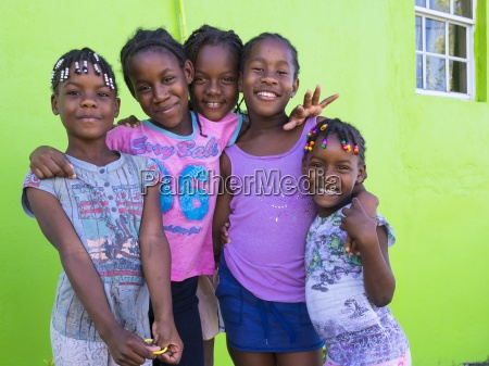 caribbean st lucia soufriere smiling girls