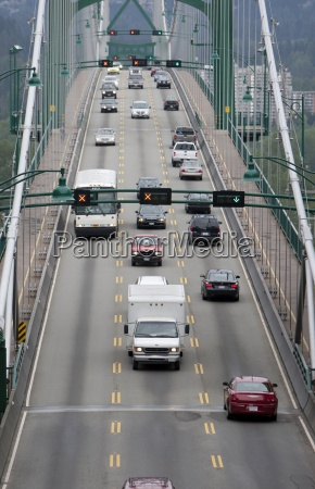 canada vancouver cars on lions gate