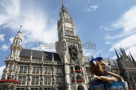germany bavaria munich townhall at marienplatz
