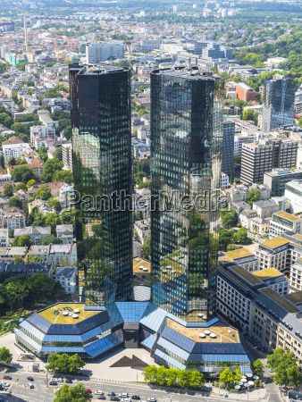 germany hesse frankfurt deutsche bank twin