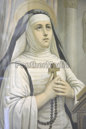 painting of virgin mary