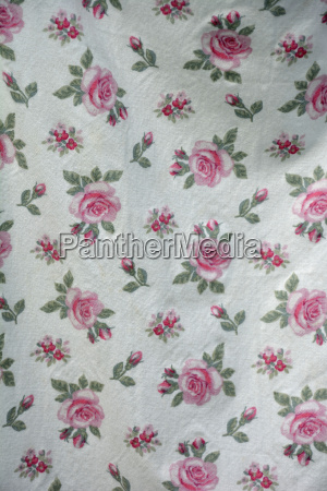 fabric with pattern of roses