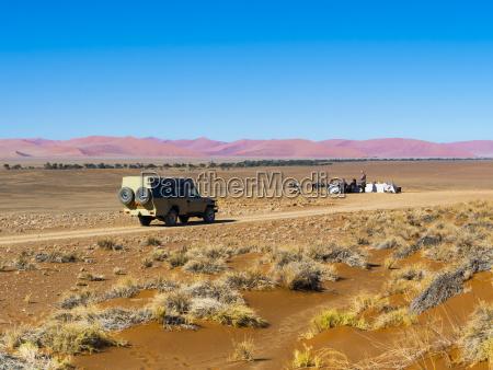 namibia hardap vehicle driving on dirt