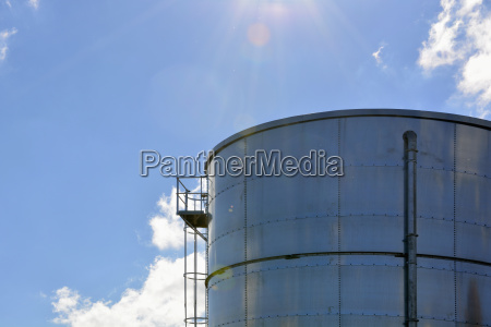 part of stainless steel silo