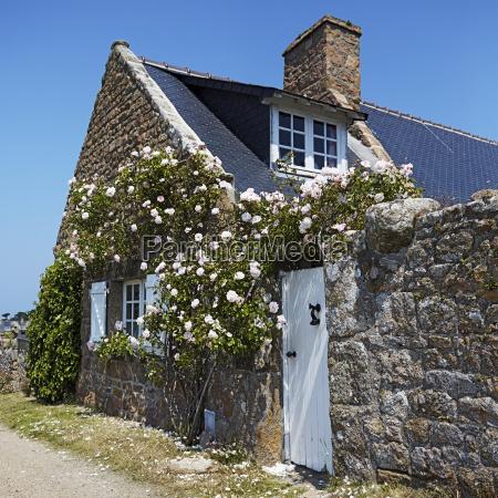 france bretagne brehat stone house overgrown