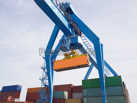 germany mainz cargo container hanging on