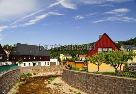 germany saxony schmiedeberg river red weisseritz