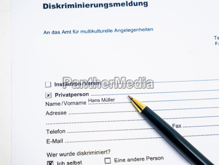 german document for report of a