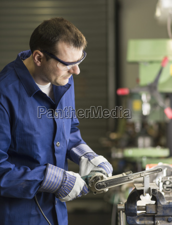 germany kaufbeuren man working in manufacturing