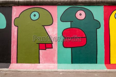 germany berlin mural painting of comic