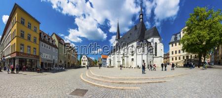 germany weimar herderplatz with parish church