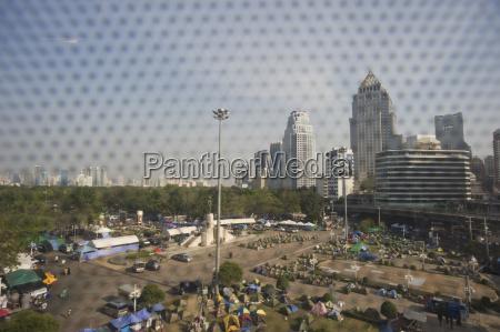 thailand bangkok protest camp of demonstrants