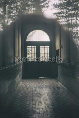 germany potsdam corridor of an abandoned